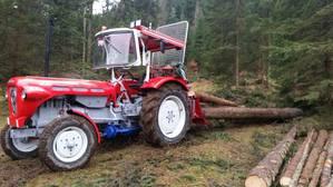 Restauierter Lindner BF 35 N bei der Waldarbeit