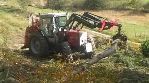 Holzernte mit MF Forsttraktor