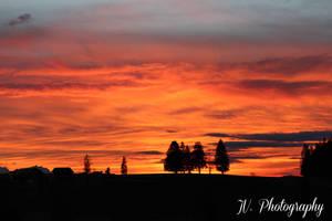 Sonnenuntergang an einem herrlichen Frühlingstag...
