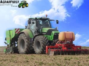 Deutz-Fahr 7250 TTV legt Kartoffeln