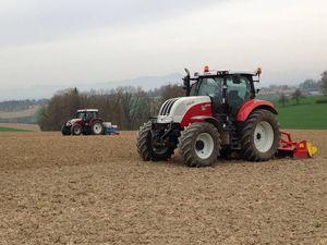 Maisanbau mit Steyr Cvt und MT