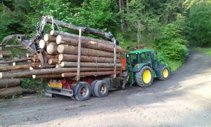 Holztransport John Deere