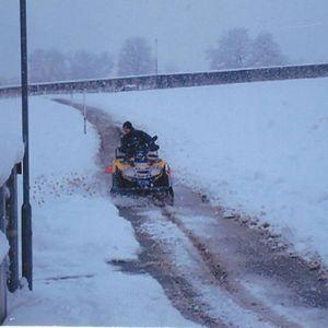 Schneeräumen mit Can Am Outlander ATV