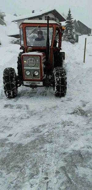 Lindner 520 sa mit schnee schild eigenbau