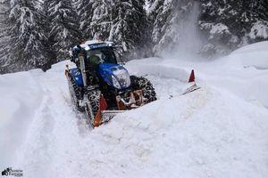 #NewHollandPower im Winterdienst in den Oberkärntner Bergen
