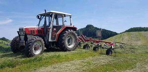 Steyr 8055 im Einsatz