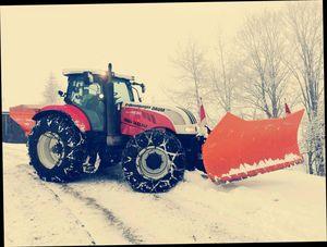 Winterdienst Steyr CVT und Hauer SRS