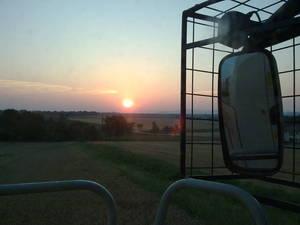 In den Sonnenuntergang