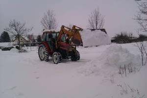 Lindner Geotrac 73 beim Schneeräumen