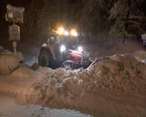 Steyr 8090 im Winterdienst