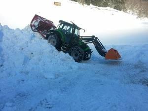 Agrotron K im Schnee