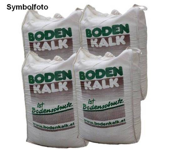 4 Big-Bags (á 1.000 kg) Bodenkalk Branntkalk, gekörnt