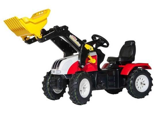Steyr 6240 CVT Kindertrettraktor mit Rolly Trac Lader und Luftbereifung