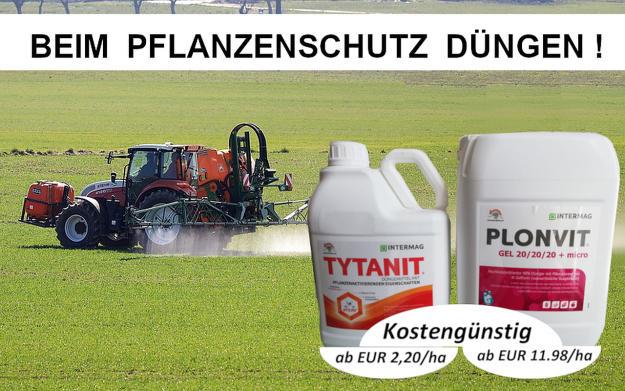 Flüssigdünger-Powerpaket: PLONVIT Gel 20:20:20+micro + Tytanit